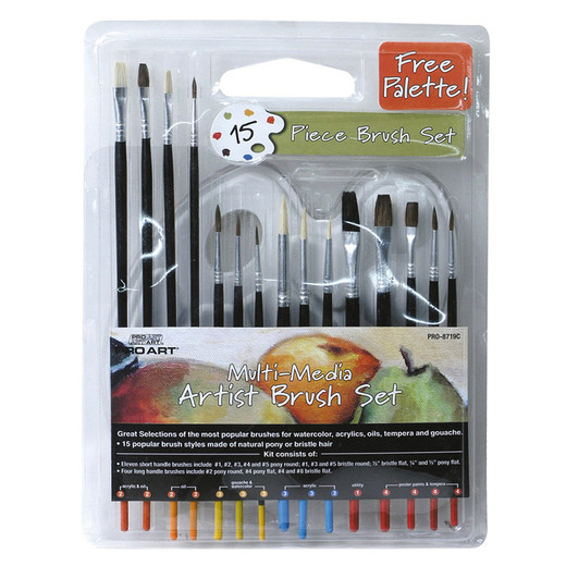 Image For BRUSH SET 15PC MULTI MEDI
